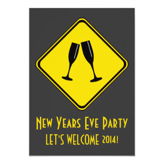 Attention: New Years Eve Party Ahead! Card