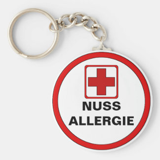 Attention - NUT allergy Key Chain
