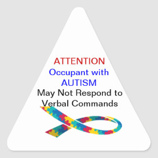 attention Occupant has Autism Stickers
