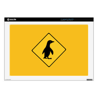 """Attention Penguins, Traffic Sign, New Zealand Skin For 17"""" Laptop"""