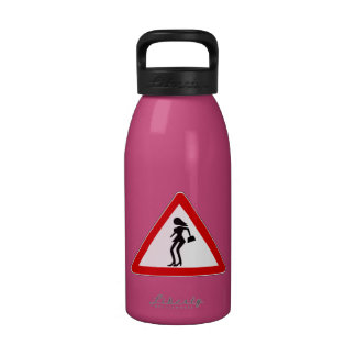 Attention Prostitutes (1), Traffic Sign, Italy Water Bottles