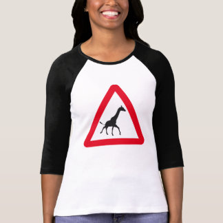 Attention Sign: Giraffe Crossing! T-Shirt
