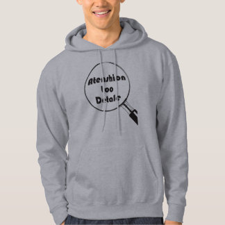 Attention To Detail black graphic Hoodie