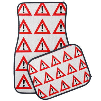 Attention Triangle Symbol Car Mat