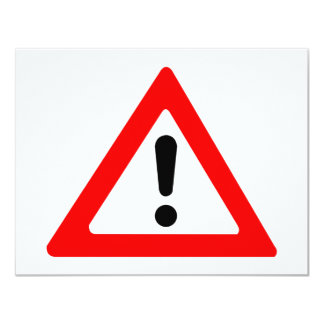 Attention Triangle Symbol Card