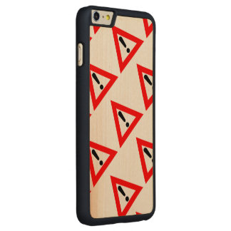 Attention Triangle Symbol Carved® Maple iPhone 6 Plus Case