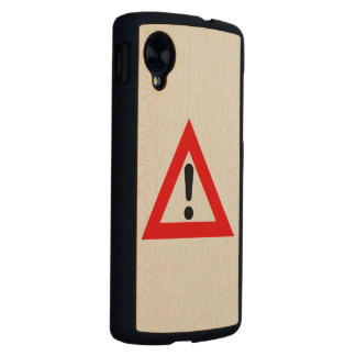 Attention Triangle Symbol Carved® Maple Nexus 5 Case