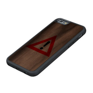 Attention Triangle Symbol Carved® Walnut iPhone 6 Bumper