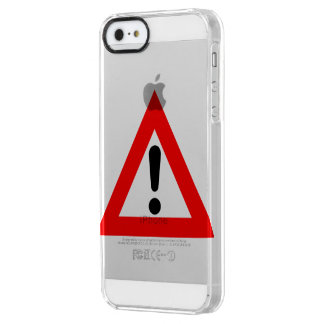 Attention Triangle Symbol Clear iPhone SE/5/5s Case