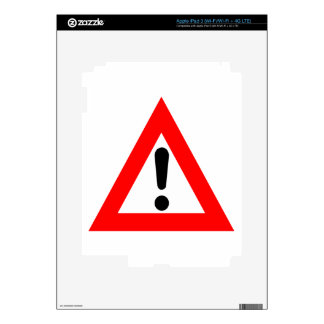 Attention Triangle Symbol Decal For iPad 3