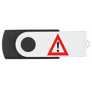 Attention Triangle Symbol Flash Drive