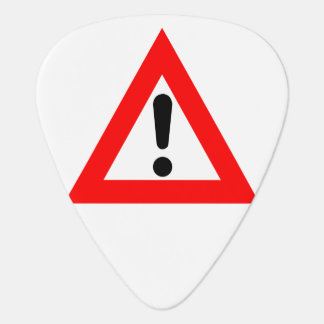 Attention Triangle Symbol Guitar Pick
