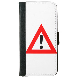 Attention Triangle Symbol iPhone 6/6s Wallet Case