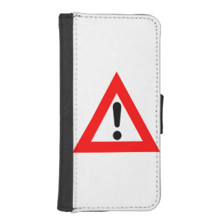 Attention Triangle Symbol iPhone SE/5/5s Wallet
