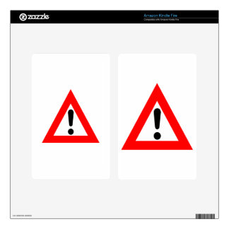 Attention Triangle Symbol Kindle Fire Skin