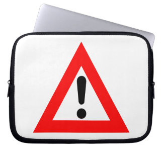 Attention Triangle Symbol Laptop Computer Sleeves