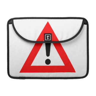 Attention Triangle Symbol Sleeve For MacBook Pro