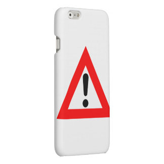 Attention Triangle Symbol Matte iPhone 6 Case
