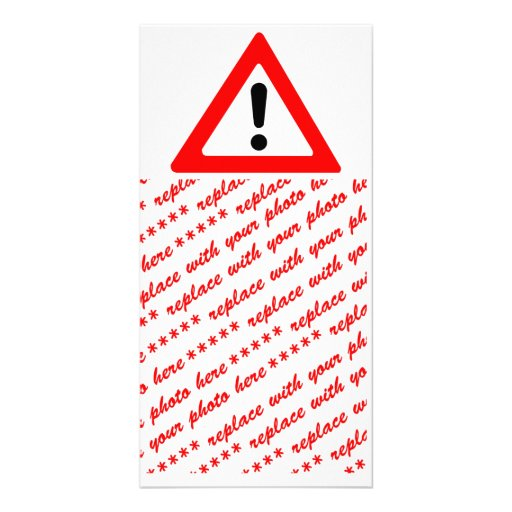 Attention Triangle Symbol Photo Card