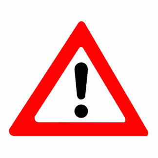 Attention Triangle Symbol Photo Cut Out