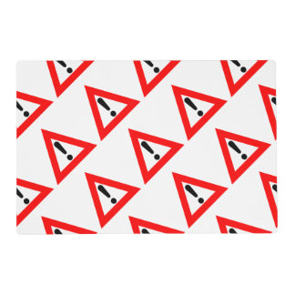Attention Triangle Symbol Placemat