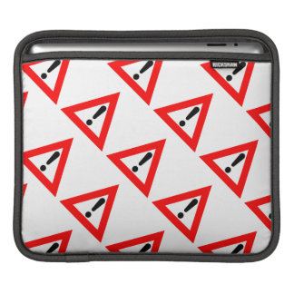 Attention Triangle Symbol Sleeve For iPads