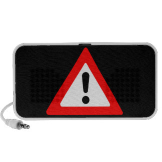 Attention Triangle Symbol Portable Speakers