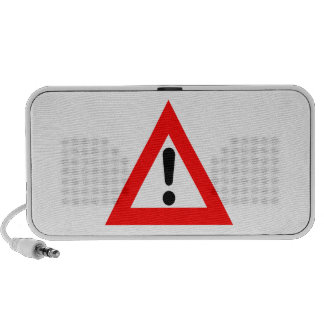 Attention Triangle Symbol iPod Speaker