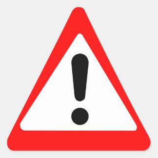 Attention Triangle Symbol Triangle Sticker