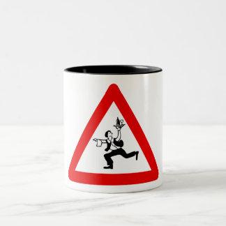 Attention Waiters Sign, Austria Two-Tone Coffee Mug