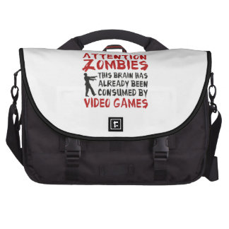 Attention Zombies Video Games Bags For Laptop