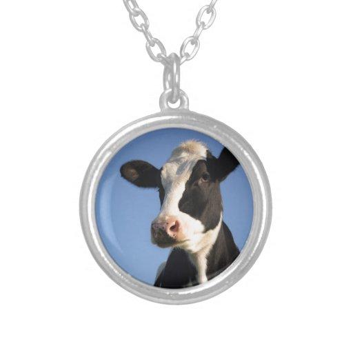 Attentive cow pendant
