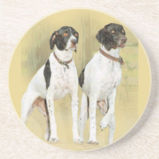 Attentive English Pointers Drink Coaster