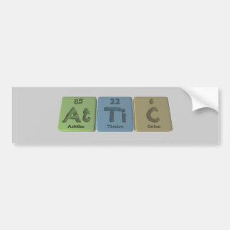 Attic-At-Ti-C-Astatine-Titanium-Carbon Car Bumper Sticker