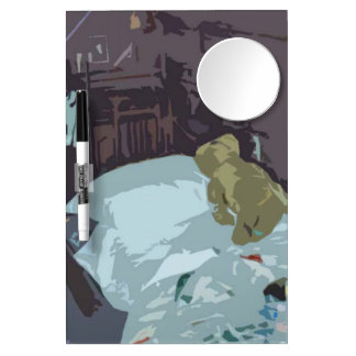 Attic Bedroom With Teddy Bear Dry Erase Boards