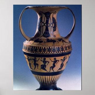 Attic black figure amphora depicting dancers c 53 posters