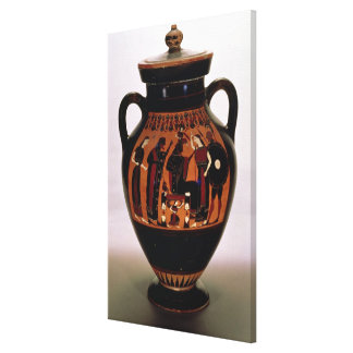 Attic black-figure amphora depicting the Birth of Stretched Canvas Print