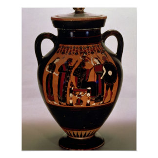 Attic black-figure amphora depicting the Birth of Poster