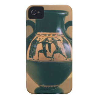 Attic black figure amphora depicting Theseus and t iPhone 4 Cover