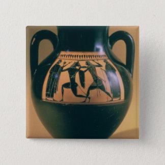 Attic black figure amphora depicting Theseus and t Pinback Button