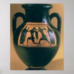 Attic black figure amphora depicting Theseus and t Poster
