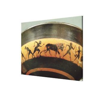 Attic black-figure cup gallery wrap canvas