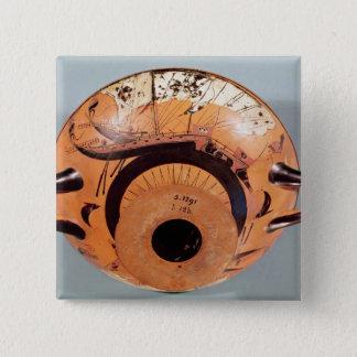 Attic black-figure cup pinback button