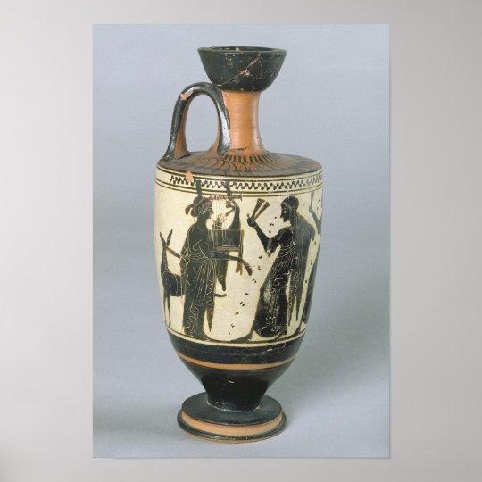 Attic black-figure lekythos poster