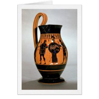 Attic black-figure olpe depicting Athena Confronti Card