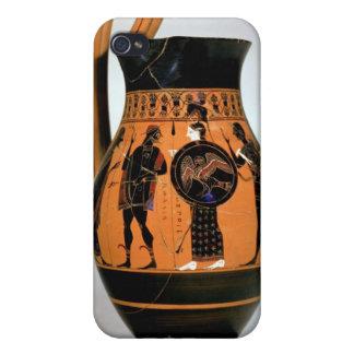 Attic black-figure olpe depicting Athena Confronti iPhone 4 Cover
