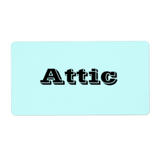 Attic Moving Labels in Light Sky Blue