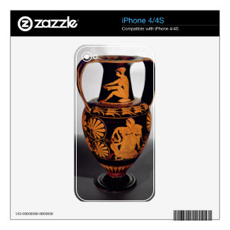 Attic red-figure amphora depicting a satyr struggl decal for the iPhone 4