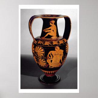 Attic red-figure amphora depicting a satyr struggl poster