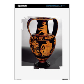 Attic red-figure amphora depicting a satyr struggl decal for iPad 3